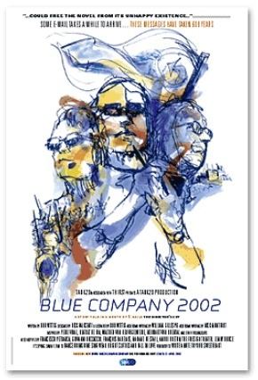 Blue Company, an illustrated novel in email