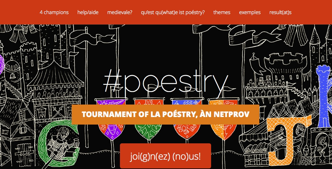 Tournament of la Poéstry, a netprov