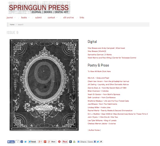 "Springgun Press Features ""Center for Twitzease Control"" netprov"