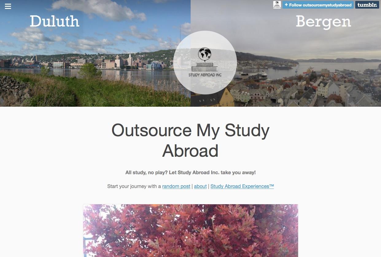 Outsource My Study Abroad, a netprov